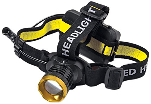 C.K T9621 LED Head Torch, Black, Yellow, Gold, White