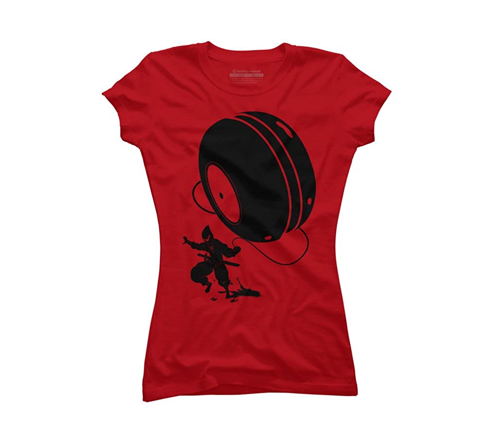 Design By Humans Ninja Yo-Yo Juniors Graphic T Shirt at ...