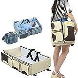 ROV 3IN1 Diaper Bag+Travel Bassinet+Change Station Multi-purpose Baby Diaper Tote Bag Bed Portable Infant Bag