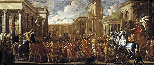 Price comparison product image Oil Painting 'Gargiulo Domenico Codazzi Viviano Entrada Triunfal De Vespasiano En Roma Ca. 1637' 20 x 47 inch / 51 x 119 cm ,  on High Definition HD canvas prints,  Garage
