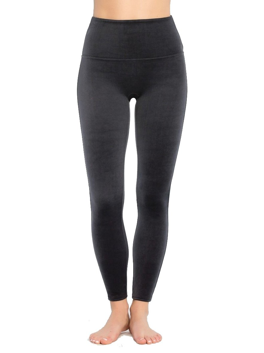 SPANX Flawless Velvet Shaping Leggings, L, Moonshadow by SPANX (Image #1)