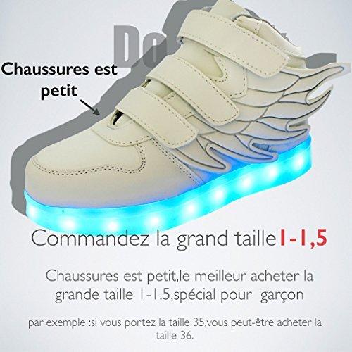 DoGeek Trainners con Luce Scarpe Verde Sneakers Bambino Colori Scarpe con 7 Tennis Lampeggiante USB Luci Bright nella Unisex Luminosi Shoes LED Suola rRgSqvxzrw