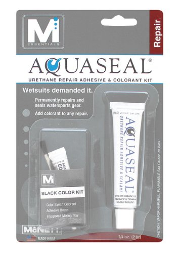 M Essentials Aquaseal Urethane Repair Adhesive and Sealant Kit with Black Color - Shop Repair Wetsuit