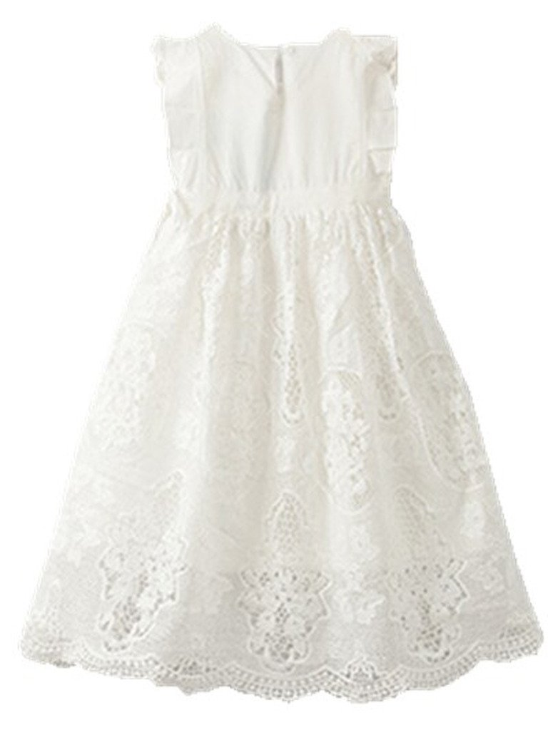 Bow Dream Flower Girl's Dress Vintage Lace Off White 10 by Bow Dream (Image #3)