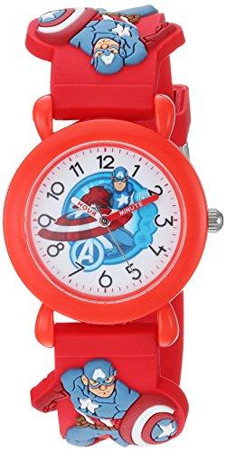 Marvel Boy's 'Avenger' Quartz Plastic Casual Watch, Color:Red (Model: WMA000158)