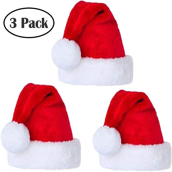 SdeNow Christmas Hat 1 Dozen 12pack 15 Unisex-Adults Child Santa Hat Traditional Red and White Felt Hats Christmas Santa Hat