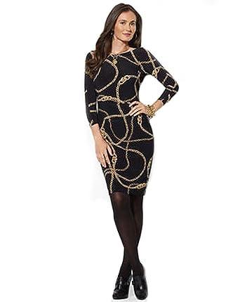 Lauren black latex dress