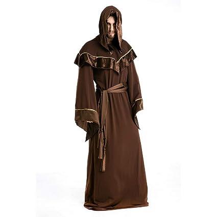 TBGGFSD Halloween Masculino Adulto Vampiro Festival Maestro Robe Monstruo Maquillaje Religioso Padrino Hombres Mago Traje,