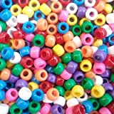 Rainbow Sprinkles Multicolor Mix Plastic Craft Pony Beads, 6x9mm, 1000 beads