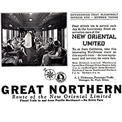 1925 Great Northern Railway: Four O Clock Tea, Great Northern Railway Print Ad
