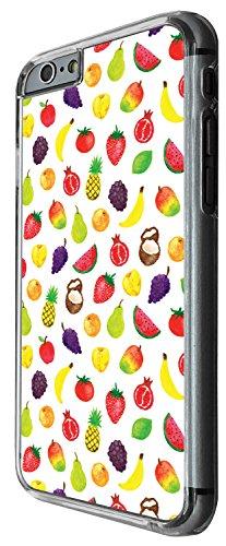 1531 - Cool Fun Trendy cute kwaii mixed fruit tropical apple cocut pineapple grapes banana watermelon Design iphone 4 4S Coque Fashion Trend Case Coque Protection Cover plastique et métal - Clear