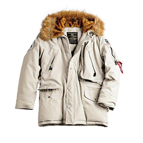Para Alpha Parka Hombre Off Polar White Jacket ZCqZxwt0HW
