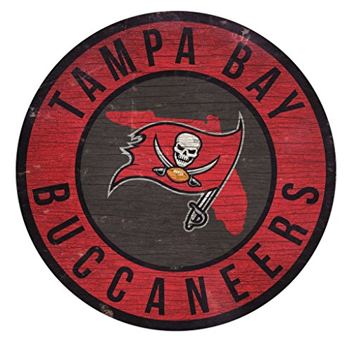 Tampa Bay Buccaneers Wall - Fan Creations Tampa Bay Buccaneers Wood Sign 12 Inch Round State Design