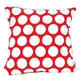 Majestic Home Goods Red Hot Large Polka Dot Pillow, Large