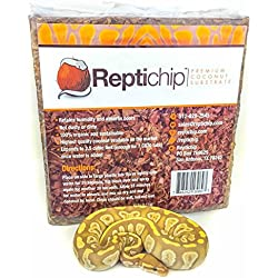 Reptichip Premium Coconut Substrate 72 quarts of natural, organic reptile bedding. This reptile substrate is easy to clean and allows for reptile hide. The highest quality coconut substrate available!