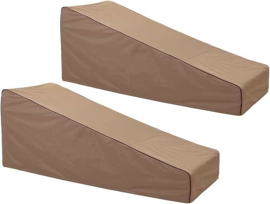 """Finnhomy Waterproof Patio Lounge Chair Covers Set of 2 600D Heavy Duty Outdoor Chaise Lounge Cover Furniture Covers 78"""" L X 30"""" W X 31"""" H, Brown"""