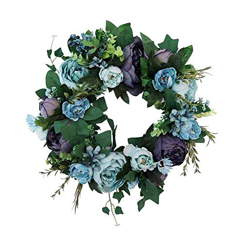 (Aukuzi Artificial Flower Wreath 15.7