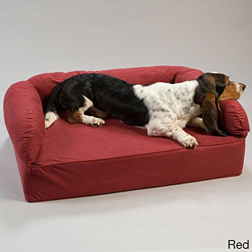 Snoozer Pet Products - Luxury Dog Sofa with Memory Foam | X-Large - Red