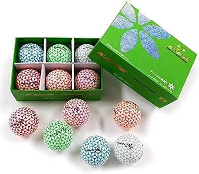 Kaede Fly Distance Golf Balls (Half Dozen) 2 Tone Colored 6 Balls