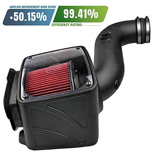 S B Filters 75 5080 Cold Air Intake For 2006 2007 Chevy Gmc Duramax Lly Lbz 6 6l Oiled Cleanable 8 Ply Cotton Filter