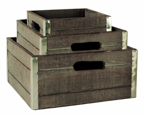 wald-imports-wood-crates-with-galvanized-metal-trim-gray-set-of-3