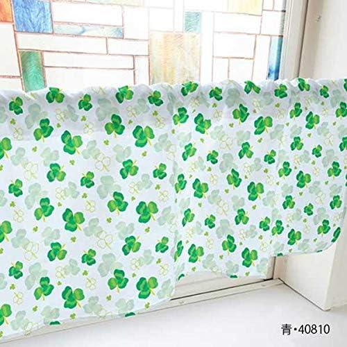 生活 雑貨 インテリア関連 カフェカーテン クローバー 800×450mm 緑