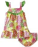 Lilybird Baby-Girls Infant Dress, Green, 18  Months image