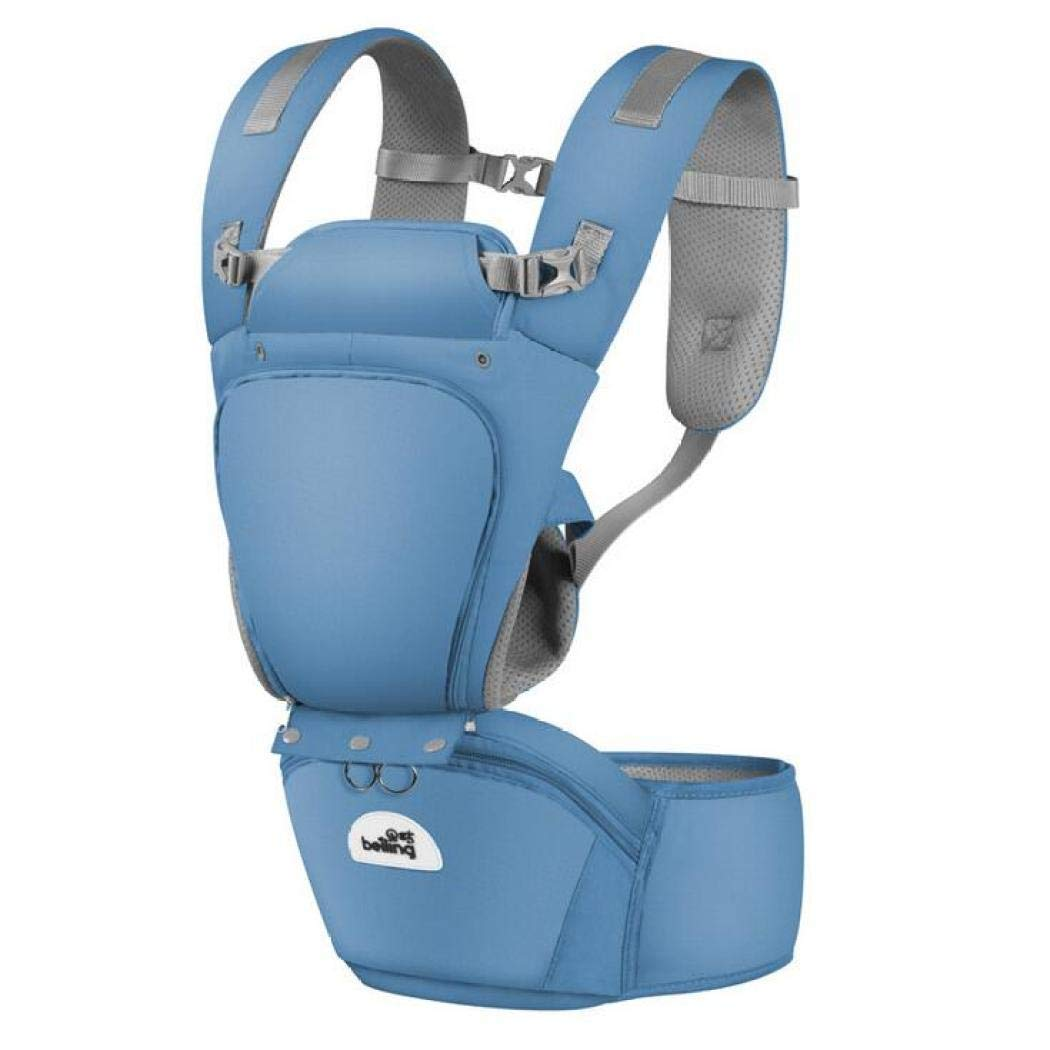 Ergonomische Babytrage, atmungsaktive Soft Carrier, Babytrage, Multi-Funktions-Breathable Four Seasons Universal Sling,dark Blau