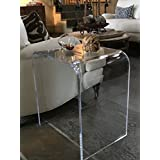 southeastflorida Acrylic End Table 20.5 wide x 16 deep x 22 high x 3/4 thick