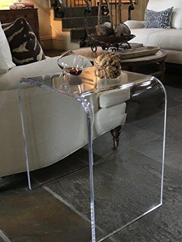 "southeastflorida Acrylic End Table 20.5"" wide x 16"" deep x 2"