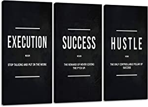 "Motivational Posters Inspirational Wall Art Canvas Paintings Ability Motivation Attitude Picture Prints Art Entrepreneur Quote for Office Living Room Bedroom Wall Decor Ready to Hang - 16""Hx24""W"