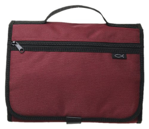 Tri-Fold Organizer Cranberry XL Book and Bible Cover