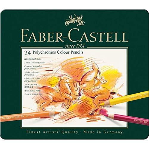 2B und 4B Faber-Castell 110097 Farbstifte Polychromos 12er Metalletui und Bleistift 9000 HB