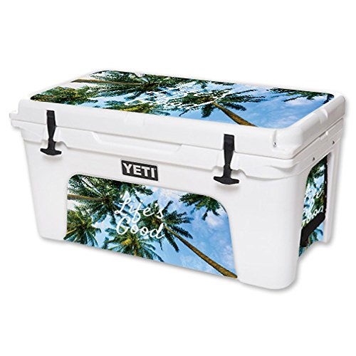 MightySkins Skin For YETI 65 qt Cooler - Lifes Good   Protective, Durable, and Unique Vinyl Decal wrap cover   Easy To Apply, Remove, and Change Styles   Made in the USA by MightySkins