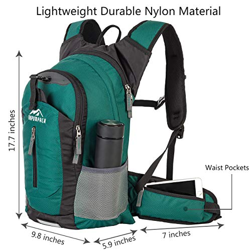 RUPUMPACK Insulated Hydration Backpack Pack with 2.5L BPA Free Bladder, Lightweight Daypack Water Ba - http://coolthings.us