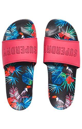 Multicolore Tootie Tropics Superdry Tongs Femme Beach Slider Toucan Sm7 Aop xpPHwqB