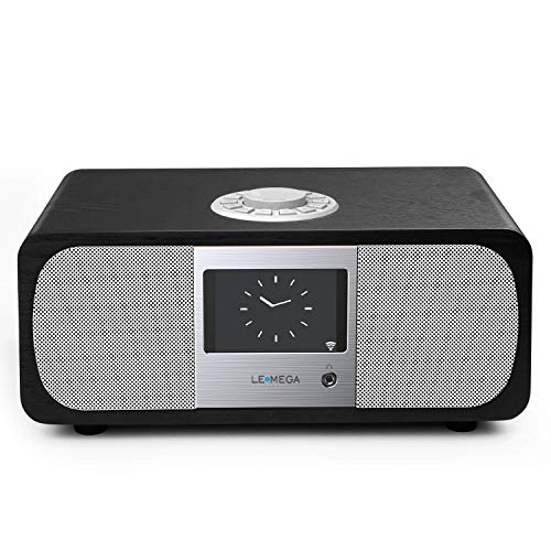 Lemega M3+ Internet Radio & Wireless Smart Speaker (HI-FI 2.1 Stereo) with FM, Bluetooth Music Streaming, Spotify Connect, Remote & App Control, Dual Alarm, Colour Display (Black Oak) by LEMEGA (Image #7)