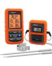 ThermoPro TP20 Wireless Remote Digital Meat Thermometer Cooking Food Thermometer with Dual Probe for Smoker Grill BBQ Thermometer