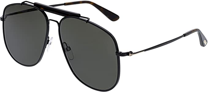 ca5cb26818 Tom Ford Sunglasses 0557 Connor 02 01A Shiny Black Grey Smoke  Tom Ford   Amazon.ca  Watches
