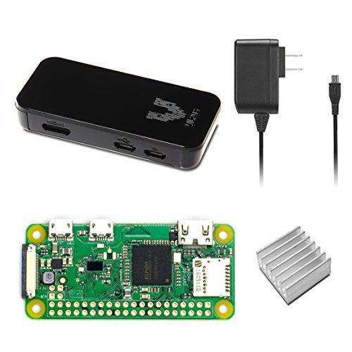 Raspberry Pi Zero W Basic Starter Kit-- Black Case Edition--Includes Pi Zero W -Power Supply & Premium Black Case