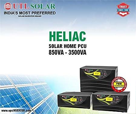 Urbanurja Utl Solar Inverter Heliac 3550 Pure Sinewave Hybrid Pcu Ups 3 5 Kva 48v 60amp Inbuilt Pwm Charge Controller Amazon In Garden Outdoors