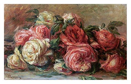 Roses Renoir Pierre Auguste - Global Gallery Art on a Budget Pierre Auguste Renoir Discarded Roses Unframed Giclee on Paper Print, 18.75