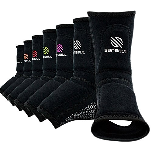Sanabul Essential Striking Gel Ankle Guard for MMA Muay Thai Kick Boxing (Pair)