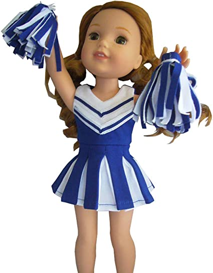 Doll Clothes 14.5 Inch Dress Cheerleader  Fit 14.5 Inch AG WELLIE WISHER DOLLS