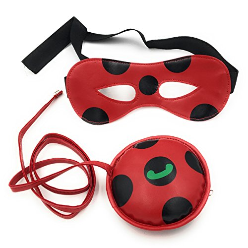 AOVEI Kids Miraculous Ladybug Bag Halfmask Ladybug Accessories Cosplay (Custom Ladybug)