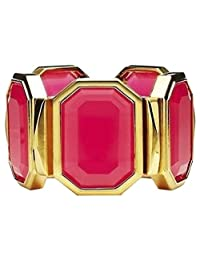 Juicy Couture Oversized Stone Stretch Cuff Bracelet, Pink YJRU6447