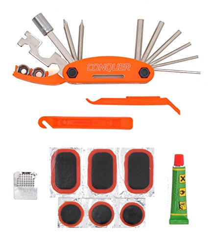 Multi Function Bike Tool with Patch Kit & Tire Levers 18 Function - Lifestyle Updated