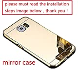 A-Smile @ Samsung Galaxy S6 Case, Luxury Metal Air Aluminum Bumper Detachable + Mirror Hard Back Case 2 in 1 cover Ultra-Thin Frame Case For Samsung Galaxy S6 (NOT S6 Edge) , (Gold)