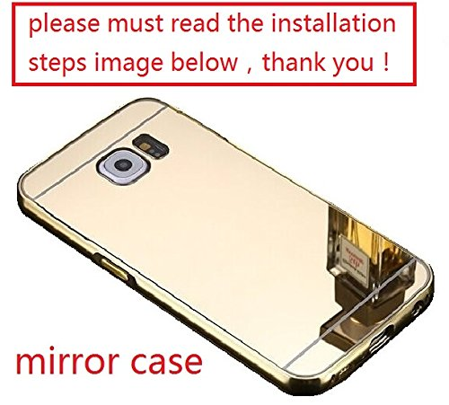 A-Smile @ Samsung Galaxy S6 Edge Plus Case, Luxury Metal Air Aluminum Bumper Detachable + Mirror Hard Back Case 2 in 1 cover Ultra-Thin Frame Case For Samsung Galaxy S6 Edge Plus, (Gold)