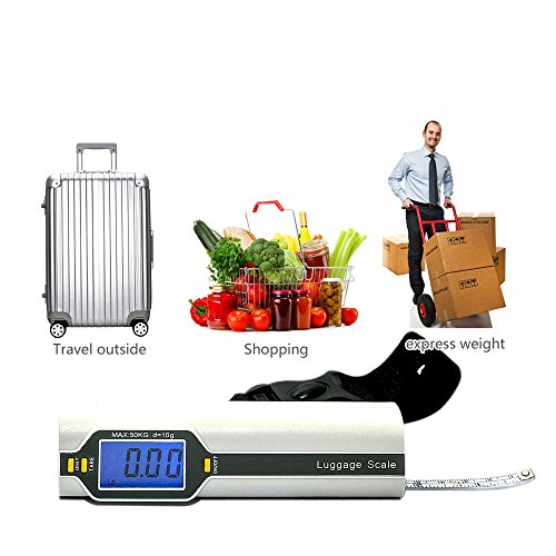 Bien Venida Digital Hanging Luggage Weight Scale with Measure1 Pack CH-150/100LB Capacity by Bien Venida (Image #5)
